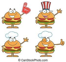 Hamburger Characters 3. Collection