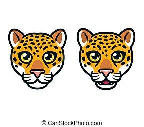 Cartoon jaguar head