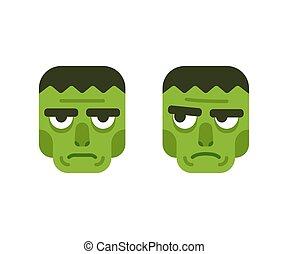 Cartoon monster head