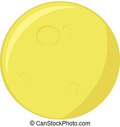 Cartoon illustration of a round full moon