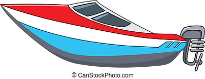 Cartoon motorboat