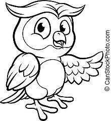 Cartoon Owl Character