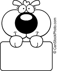 Cartoon Puppy Dog Sign