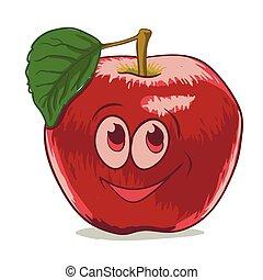 cartoon red apple