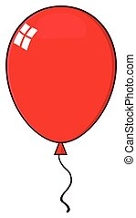 Cartoon Red Balloon
