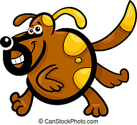cartoon running dog or puppy