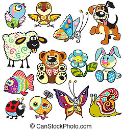 cartoon set for kids