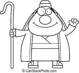 Cartoon Shepherd Waving