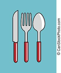 cartoon spoon fork knife kitchen design