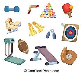 cartoon Sports Equipment icons