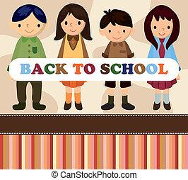 cartoon student card/back to school