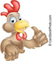 Cartoon Thumbs Up Chicken