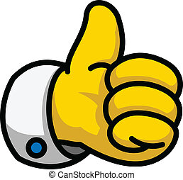 Cartoon Like/Thumbs Up symbol, vector Eps8 illustration