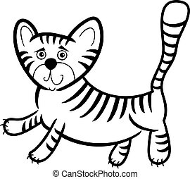 cartoon tiger for coloring book