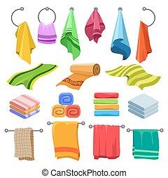 Cartoon towels set
