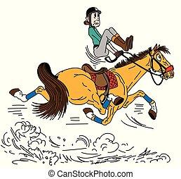 cartoon trotting horse