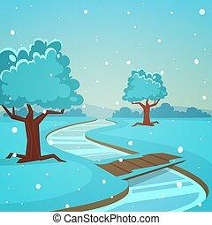 Cartoon Winter Landscape