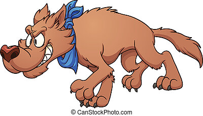Cartoon wolf