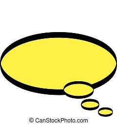 Cartoon Word / Thought balloon clip art