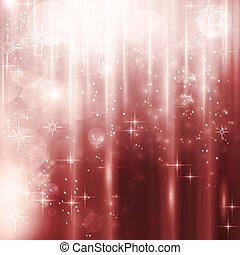 Cascades of light with stars and bokeh background