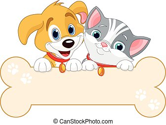Cat and Dog Sign