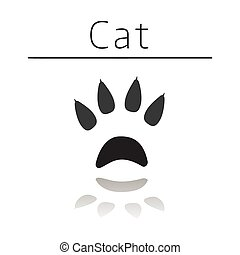 Cat animal track