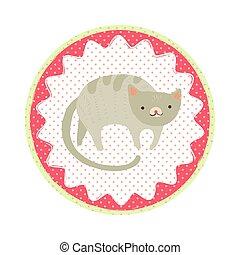 Cat badge emblem