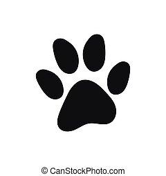 Cat paw print vector