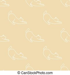 Cat Seamless Pattern kitten vector scarf isolated repeat wallpaper cartoon doodle illustration tile background