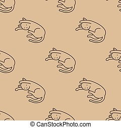 Cat Seamless Pattern kitten vector scarf isolated repeat wallpaper tile background cartoon doodle illustration