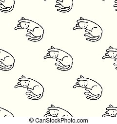 Cat Seamless Pattern kitten vector scarf isolated repeat wallpaper tile background cartoon illustration doodle