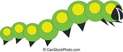 little caterpillar in color 01