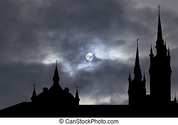 Catholic church with clipping path