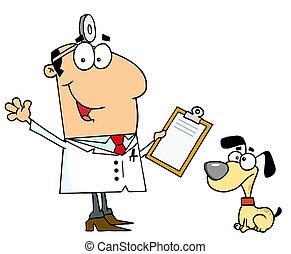 Dog Veterinarian Man