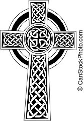 Complex Celtic cross symbol great for tattoo.