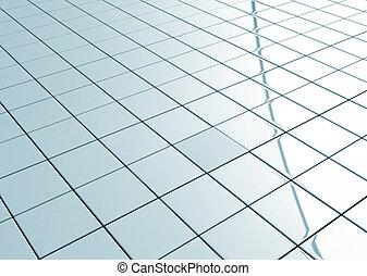Tiled floor abstract grid