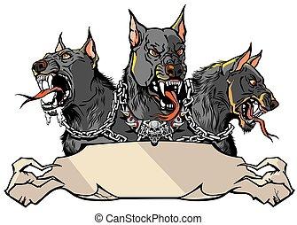 Cerberus Hellhound design template