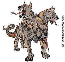 Cerberus Hellhound tattoo