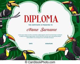 Certificate diploma template of kid education