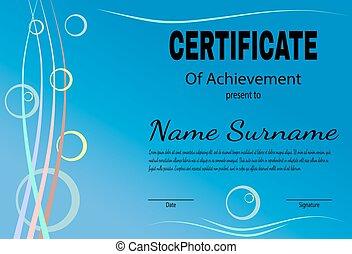 Certificate of achievement template in vector