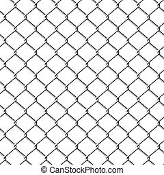 Vector illustration of a seamless chainlink fence