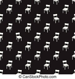 Chair Seamless pattern Vector table furniture isolated repeat wallpaper background
