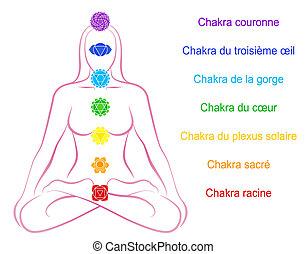 Chakras Woman Description French