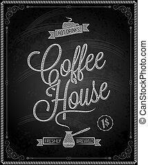 chalkboard - frame coffee menu