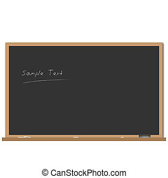 Image of a chalk board with editable text.