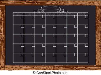 Chalkboard monthly calendar