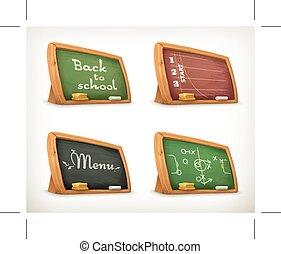 Chalkboards, school sport menu