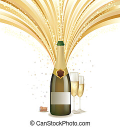 vector illustration of champagne holiday