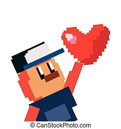 pixel video game