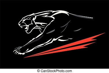 charging panther with the light shape.